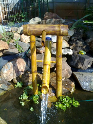 how to make bamboo rocking fountain